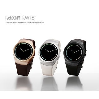 TechComm KW18 Bluetooth and GSM Unlocked Smartwatch with Built-in Camera, Heart Rate Monitor, Sleep Monitor and Pedometer