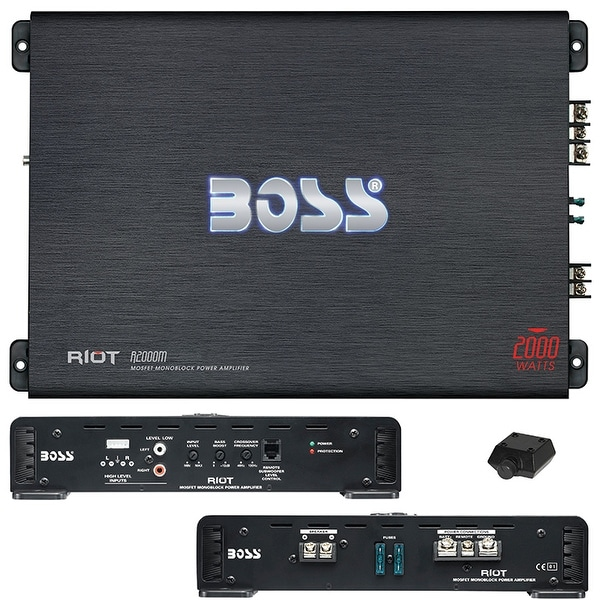 BOSS Audio R2000M - Riot 2000 Watt, 2/4 Ohm Stable Class A/B,