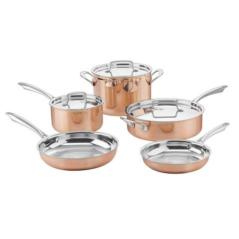 Cuisinart CTPP-8 Collection 8 Piece Cookware Set, Copper