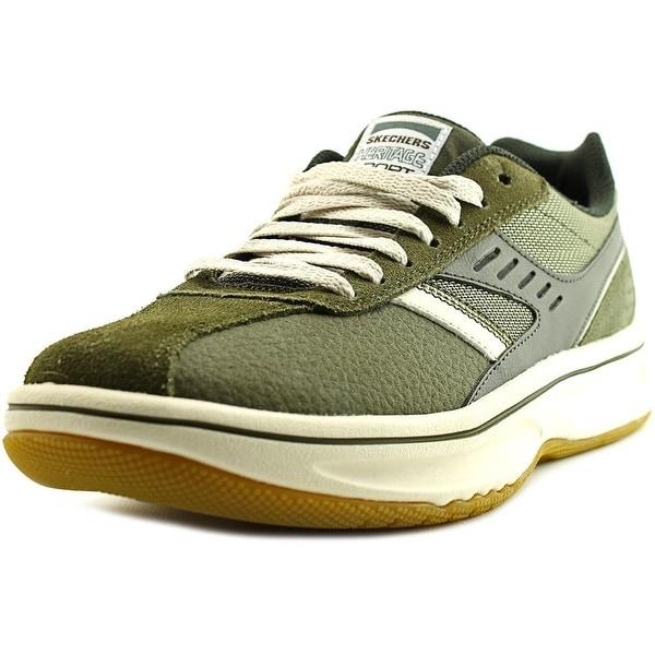 Skechers Piers II Men  Round Toe Synthetic Green Sneakers