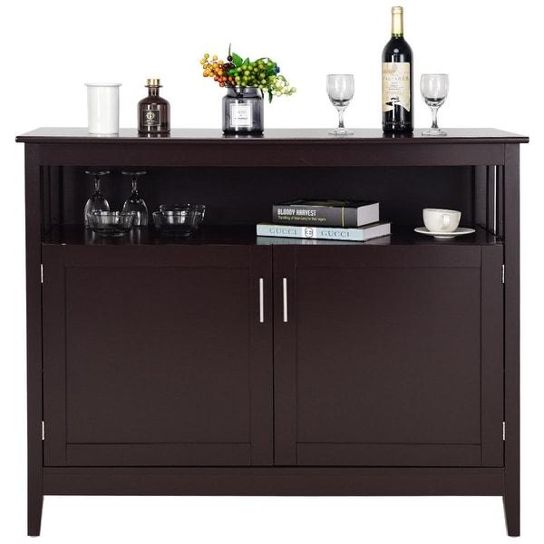 Shop Modern Wooden Kitchen Storage Cabinet -Brown - Free ...