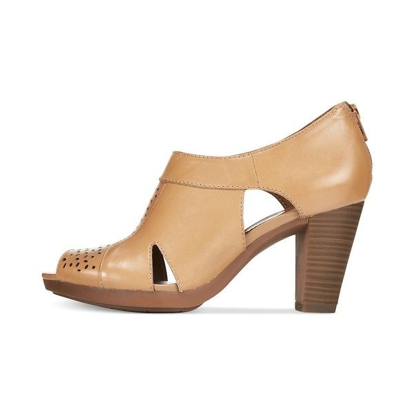 Clarks Women's Jovelyn Hollis Leather Peep Toe Heel Sandals