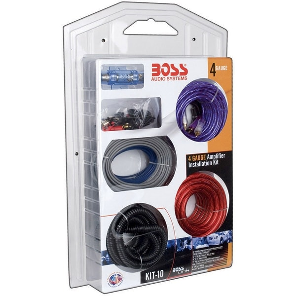 Boss Complete 4 Gauge Amplifier Installation kit