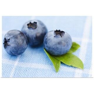 """Studio shot of blueberries"" Poster Print"