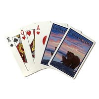 Grizzly Bear and Cub - Colorado - LP Art (Poker Playing Cards Deck)