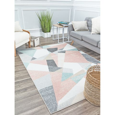 Mika Modern & Contemporary Abstract Area Rug by Rugs America