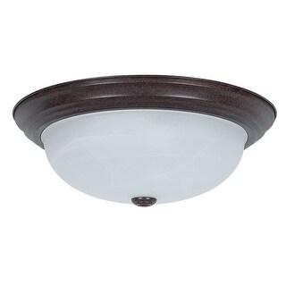 """Sunset Lighting F7634 3 Light 180 Watt 15"""" Wide Flush Mount Ceiling Fixture"""