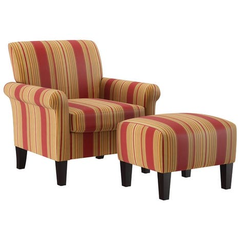 Copper Grove Chanden Arm Chair and Ottoman Set