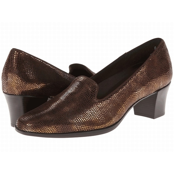 Munro Brown Shoes Size 6N Pumps Classics Leather Loafer Heels