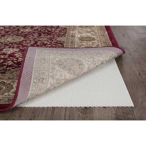 Alise Rugs Extreme Grip Traditional Solid Rug Pad - Off-White