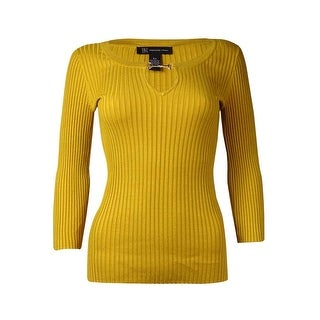 INC International Concepts Women's Ribbed Knit Sweater