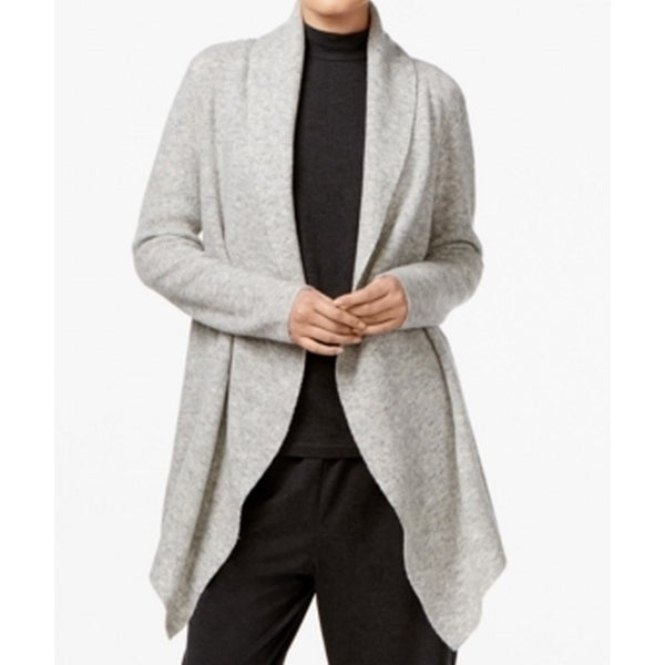 376f327f85c7e0 Shop Eileen Fisher NEW Gray Women Size Large L Shawl Collar Cardigan Sweater  - Free Shipping Today - Overstock - 20510586