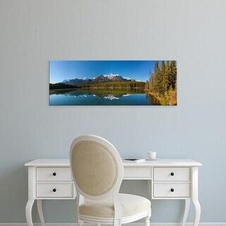 Easy Art Prints Panoramic Image ' Mount Temple in Herbert Lake, Banff National Park, Alberta, Canada' Canvas Art