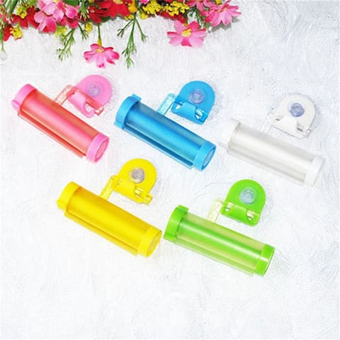 Useful Plastic Rolling Tube Squeezer Toothpaste Easy Dispenser Bathroom Holder