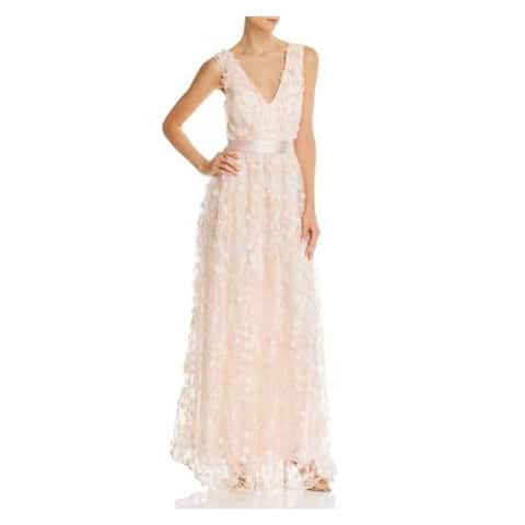 LAUNDRY Beige Sleeveless Full-Length Dress 12