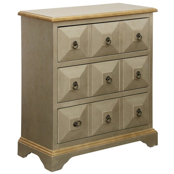 "StyleCraft SC-DCA661 Staten Island 31"" Wide Three Drawer Wood Accent Cabinet"
