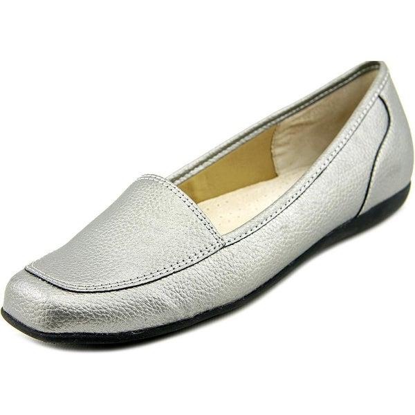 Trotters Fantasy Women Moc Toe Synthetic Silver Loafer