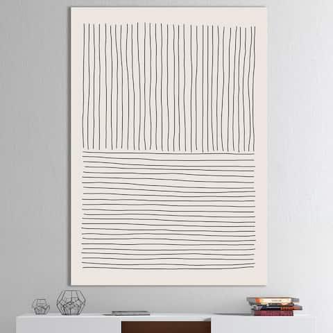 Designart 'Minimal Geometric Lines III' Modern Canvas Wall Art Print