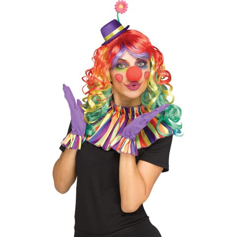 Adult Instant Clown Colorful Costume Kit - Standard - One Size