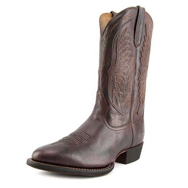 Ariat Throwdown Round Toe Leather Western Boot