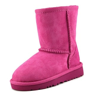 Ugg Australia Kids Classic Toddler Round Toe Suede Pink Winter Boot