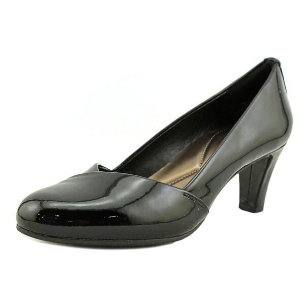 Easy Spirit Albie Women Round Toe Patent Leather Black Heels
