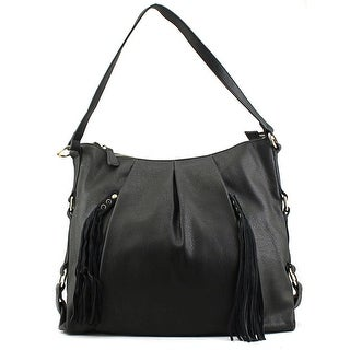 MG Collection Cecilia Tassel Hobo    Synthetic  Hobo - Black