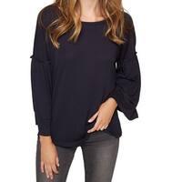Sanctuary Blue Women's Size XS Bell Sleebe Scoop Neck Knit Top
