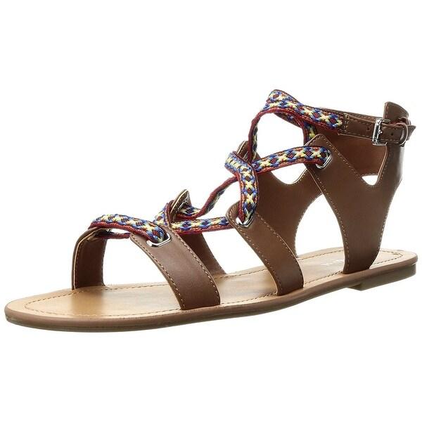 Indigo Rd Womens Diaz Flat Sandal Black Size 70