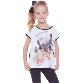 Girls Graphic T-Shirt Puppy Tee Kids Clothing Summer 2-10 Years Pulla Bulla