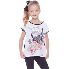 Girls Graphic T-Shirt Puppy Tee Kids Clothing Summer 2-10 Years Pulla Bulla