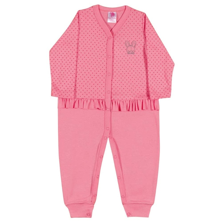 Baby Girl Romper Newborn Infant Long Sleeve Bodysuit Pulla Bulla 3-12 Months - Thumbnail 0