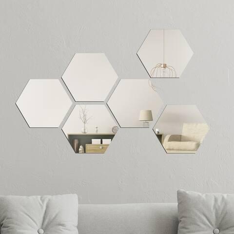 Walplus Minimalist Hexagon Acrylic Wall Mirror Tiles DIY Home Decor