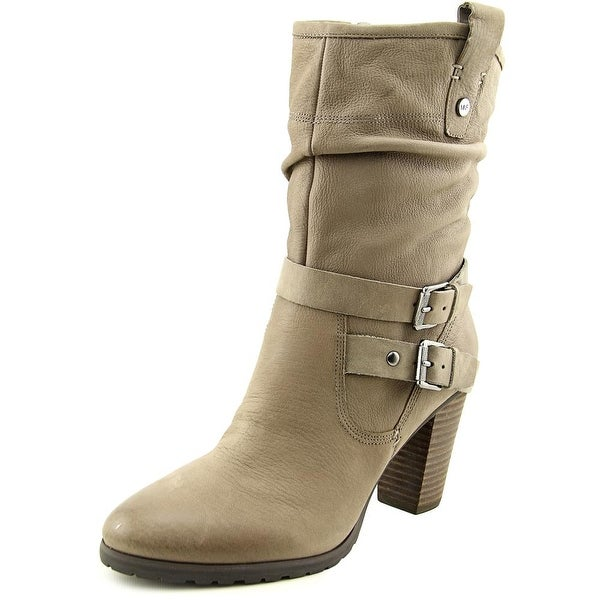 Marc Fisher Famous   Round Toe Leather  Mid Calf Boot