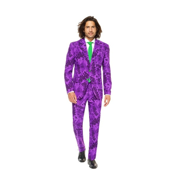Purple and Green The Joker Men Adult Suit - Medium