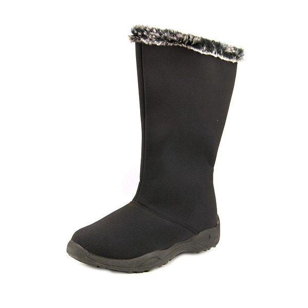 Propet Madison Tall Zip Women Black Snow Boots