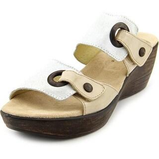 Helle Comfort Mod. Gemini Women Open Toe Leather Wedge Sandal