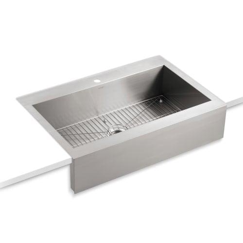 Kohler k 3942 1 vault 36 single basin top mount 18 gauge stainless kohler k 3942 1 vault 36 single basin top mount 18 workwithnaturefo