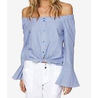 Sanctuary Blue Women's Size Small S Striped Button Down Blouse