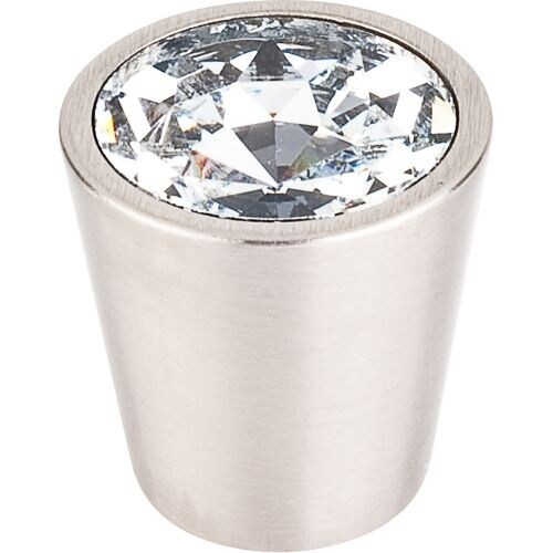Top Knobs TK135 Crystal 1-1/16 Inch Diameter Conical Cabinet Knob