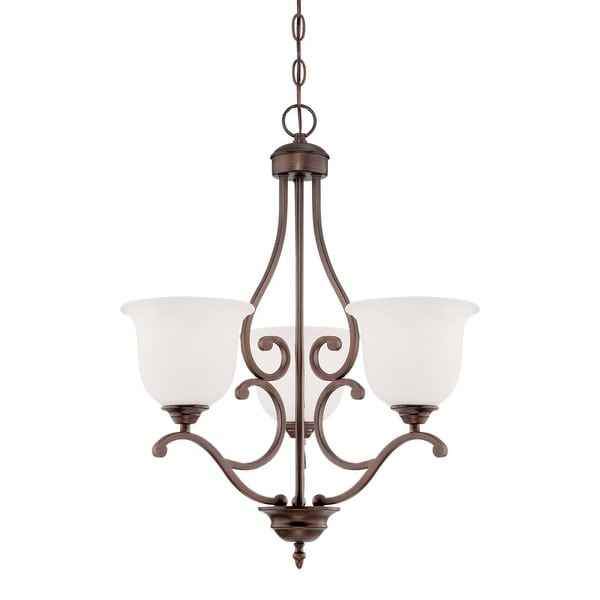 Millennium Lighting 1553 Courtney Lakes 3-Light 1 Tier Chandelier - Rubbed bronze