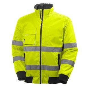 Helly Hansen Work Jacket Mens L/S Alta Pilot Waterproof Hi Vis 71371