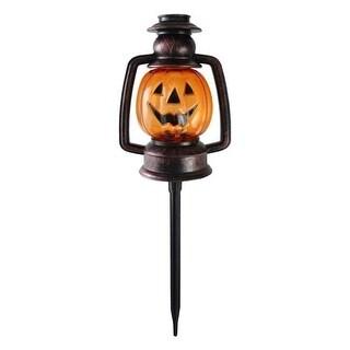Flickering Halloween Pumpkin Lantern Pathway Markers - Set of 3