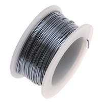 Artistic Wire, Silver Plated Craft Wire 18 Gauge Thick, 4 Yard Spool, Gunmetal/Hematite