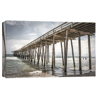 "PTM Images 9-103777  PTM Canvas Collection 8"" x 10"" - ""Old Wooden Pier"" Giclee Beaches and Waves Art Print on Canvas"