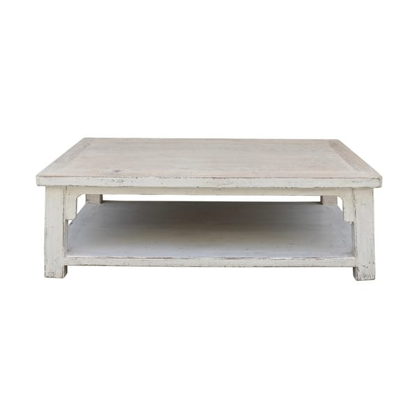 Lily S Living Amalfi Large Wooden Coffee Table 67 Inch Wide Off White 67 W X 43 L X 18 H Overstock 32461366