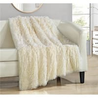 Anchorage Shaggy Faux Fur Supersoft Ultra Plush Decorative Throw