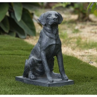 Link to Utqiagvik 16.9-inch Grey Dog Garden Statue by Havenside Home Similar Items in Outdoor Decor