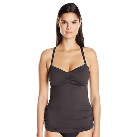 Seafolly Women's DD Cup Tankini Top Swimsuit, Steel, Sz aus 12