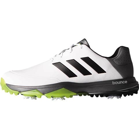 8dd7d7f46 Adidas Men s Adipower Bounce White Black Solar Slime Golf Shoes  Q44787-Q44790